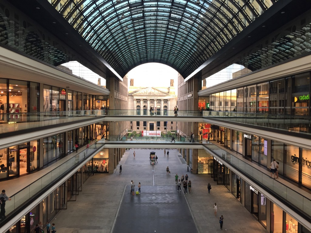 The Mall of Berlin. One of their biggest malls. Got nothing on Asian malls. Pfft.