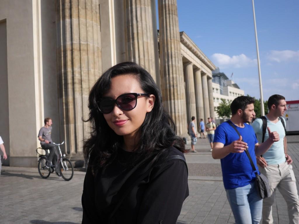 Behind Brandenburg Gate